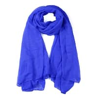 Soft Lightweight Long Scarves With Solid Color Shawl For Women Men Royal Blue