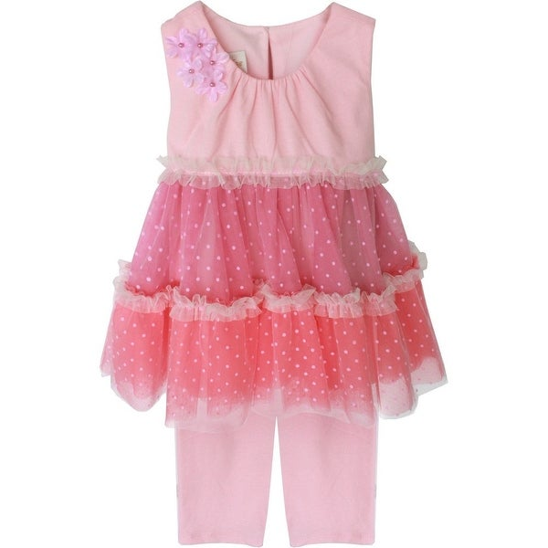 Isobella & Chloe Baby Girls Pink Musicbox Two Piece Pant Outfit Set 3M-24M