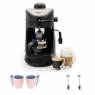 Capresso 30301 4-cup Espresso and Cappuccino Machine + Espresso Machine Accessory Kit
