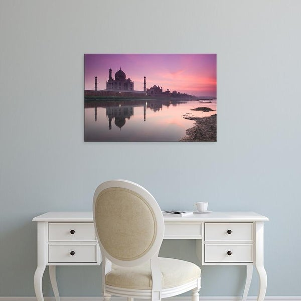 Easy Art Prints Walter Bibikow's 'Taj Mahal' Premium Canvas Art
