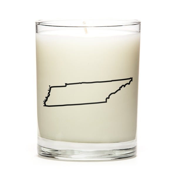 Custom Candles with the Map Outline Tennesse, Fine Bourbon