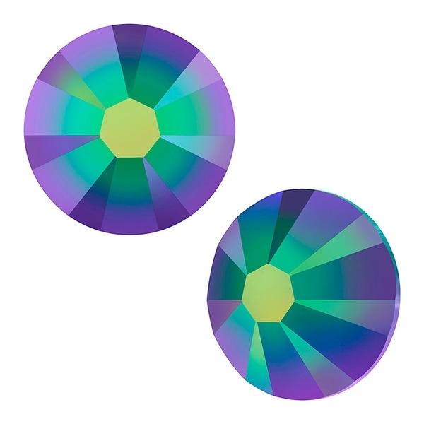 Swarovski Elements Crystal, Round Flatback Rhinestone SS7 2.2mm, 72 Pieces, Crystal Scarabaeus Green