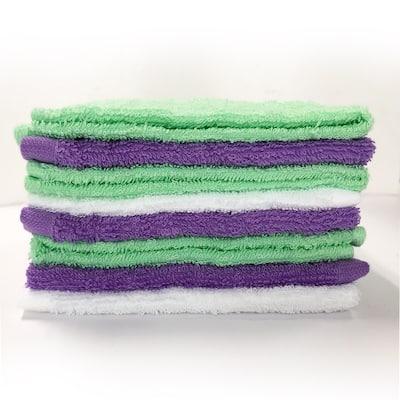 Style Quarters washcloth pack 8PC PURPLE