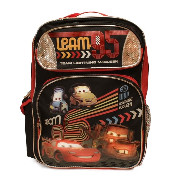 Shop Disney Cars 2 Team Lightning McQueen Large Backpack - Free Shipping On Orders Over $45 - Overstock - 11780626