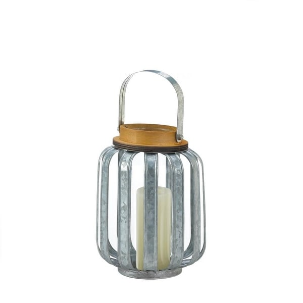 Small Galvanized Metal Lantern