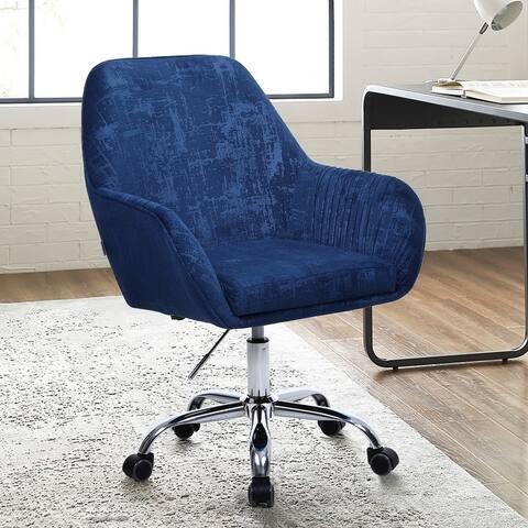 Modern Adjustable Height Rolling Velvet Task Chair