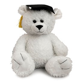 The Petting Zoo 12 inch Graduation Bear White