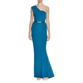 Nicole Bakti Womens Evening Dress One Shoulder Formal