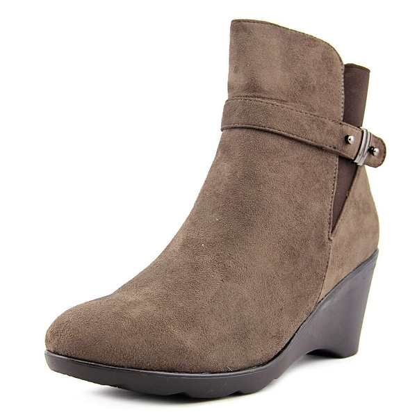 G.C. Shoes Veronica Women Round Toe Suede Brown Bootie