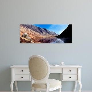 Easy Art Prints Panoramic Image 'mountains, Loch Achtriochtan, Glen Coe, Highlands Region, Scotland' Canvas Art