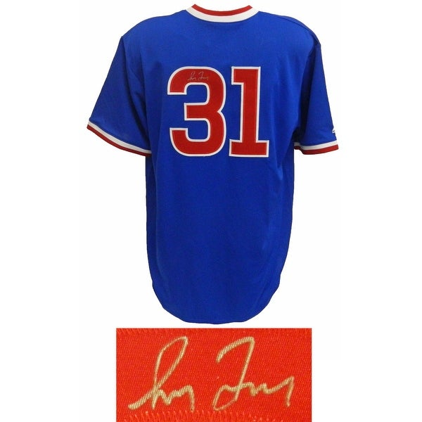 online retailer 58c3b 8d652 Greg Maddux Chicago Cubs Throwback Blue Cooperstown Collection Jersey
