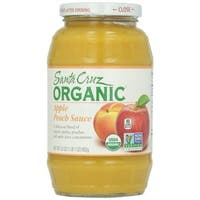Santa Cruz Organic Apple Sauce - Peach - Case of 12 - 23 oz.