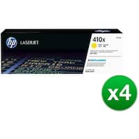 HP 410X Yellow High Yield Original LaserJet Toner Cartridge (CF412X)(4-Pack)