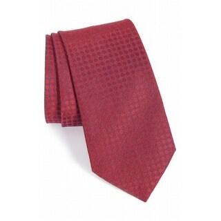 John Varvatos NEW Red Men's Slim Polka-Dot Print Silk-Blends Neck Tie