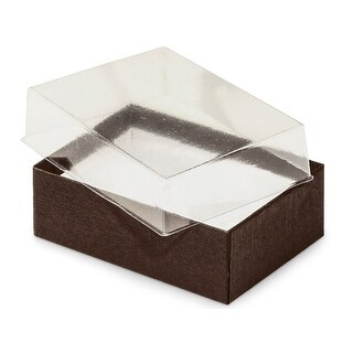 """Pack of 100, Solid 3 x 2.25 x 1"""" Clear Lid Jewelry Boxes"""