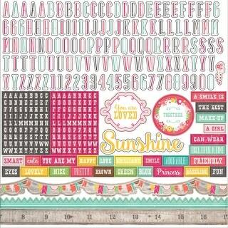 "Petticoats & Pinstripes Cardstock Stickers 12""X12""-Girl Alphabet"