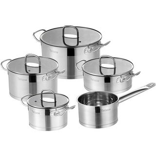 Link to Velaze Stainless Steel Cookware Set, 9-Piece Pots and Pans Set Similar Items in Cookware