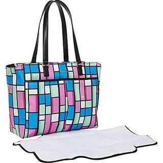 Vera Bradley Womens Uptown Colorblock Organizational Diaper Bag