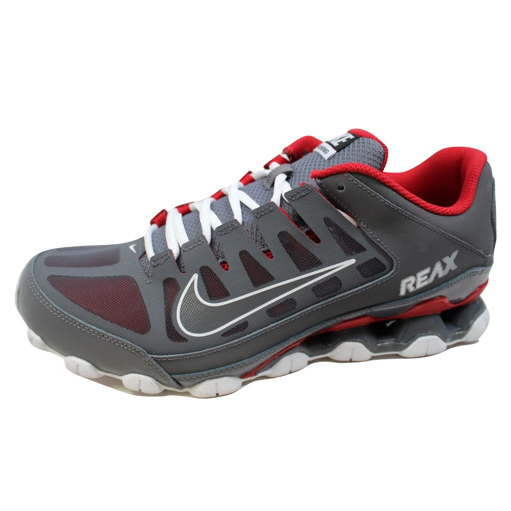 d1e847fe383376 Shop Nike Men's Reax 8 TR Mesh Dark Grey/Dark Grey-Gym Red 621716-013 -  Free Shipping Today - Overstock - 20139476