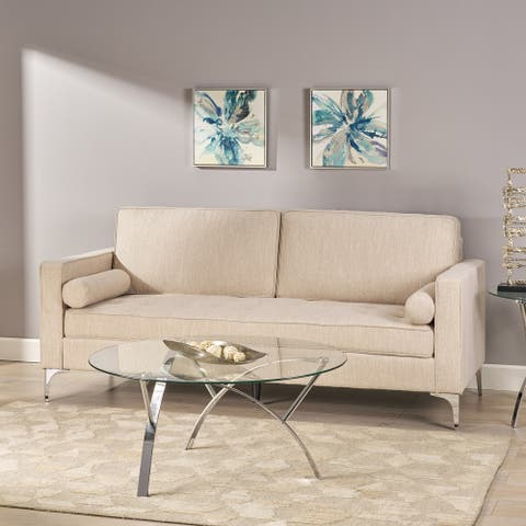"""Portwall Tufted Fabric Sofa by Christopher Knight Home - 82.25"""" W x 34.25"""" L x 37.00"""" H"""