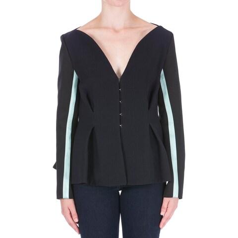Roksanda Ilincic Womens Blazer Textured Contrast Stripe - 8