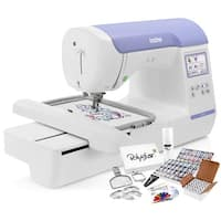 Brother PE800 Embroidery Machine + Grand Slam Package Includes 64 Embroidery Threads + Cap Hoop + 15,000 Designs + More!