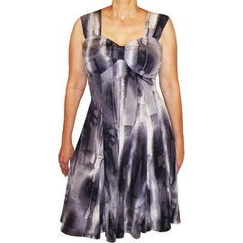 Funfash Plus Size Clothing Black White Gray Slimming Cocktail Dress Made in USA