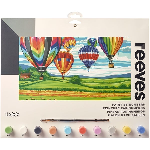 "Paint By Number Kit 12""X16""-Hot Air Balloons"
