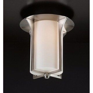 PLC Lighting PLC 23010 Single Light Flush Mount Ceiling Fixture from the Pixel Collection - Grey
