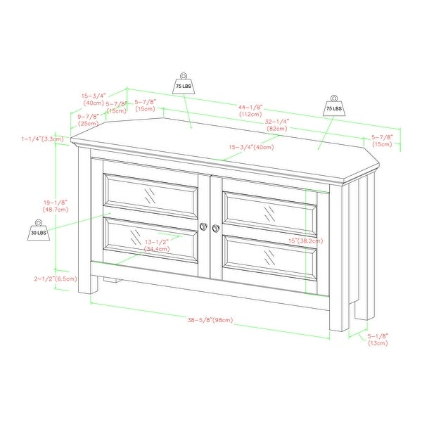 Copper Grove Bow Valley 44-inch Corner TV Stand