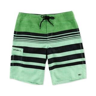 O'Neill Mens Calypso Striped Swim Board Shorts (Option: Green - 40)
