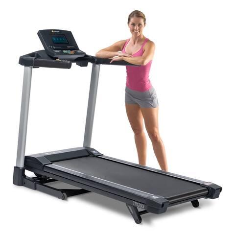 LifeSpan Fitness tr1200i foldable exercise treadmill w/ color display - Black