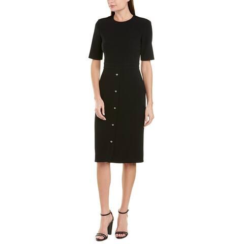 Jason Wu Compact Crepe Silk-Lined Sheath Dress