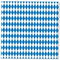 Club Pack of 192 Blue & White Oktoberfest Disposable 2-Ply Luncheon Napkins