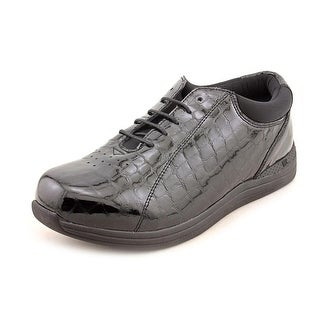 Drew Tulip Women  Round Toe Leather Black Sneakers