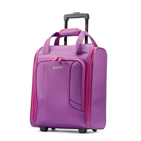 American Tourister 4 KIX Rolling Tote, Purple/Pink