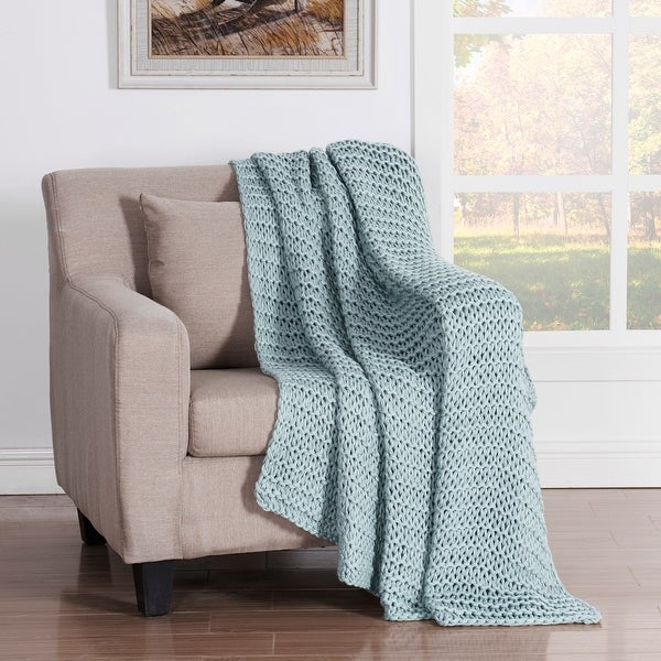 Five Queens Court Leon Chunky Knitted Luxury Throw. Opens flyout.
