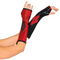 Harley Quinn Gauntlets Adult Costume Accessory