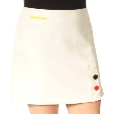 ANNE KLEIN Womens Ivory Embellished Above The Knee A-Line Skirt Size: 16