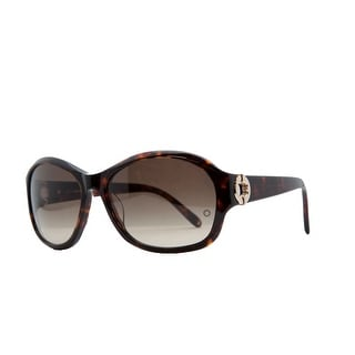 Mont Blanc MB 357/S 52F Havana Oval Sunglasses