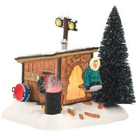 """Department 56 4042408 Original Snow Village Griswold Sled Shack Lit House, 7.09""""