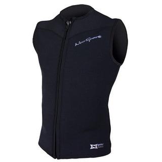 NeoSport 2.5mm X-Span Front Zip Sports Vest - Black