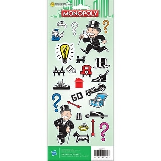 Cardstock Stickers -Monopoly
