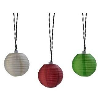 Moonrays 91104 Plug-In Led Oriental Lantern String Lights, Cinnamon/Sage/Cream