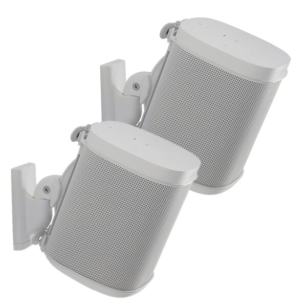 Sanus Wireless Speaker Swivel and Tilt Wall Mounts for Sonos ONE, PLAY:1, and PLAY:3 - Pair