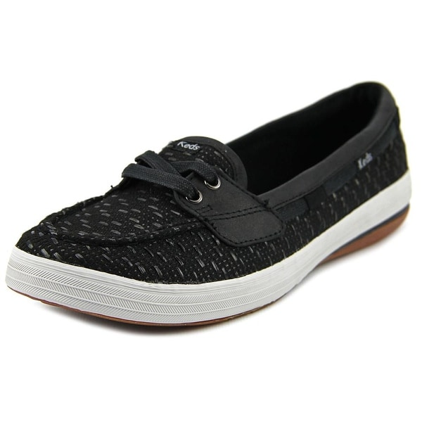 Keds Glimmer Women Round Toe Canvas Black Loafer