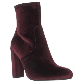 Steve Madden Brisk Stretch Ankle Booties, Burgundy