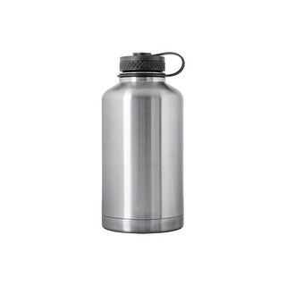 Monoprice Pure Outdoor Vacuum Sealed Wide-Mouth Water Bottle Growler - 64 fl. oz. - Stainless Steel