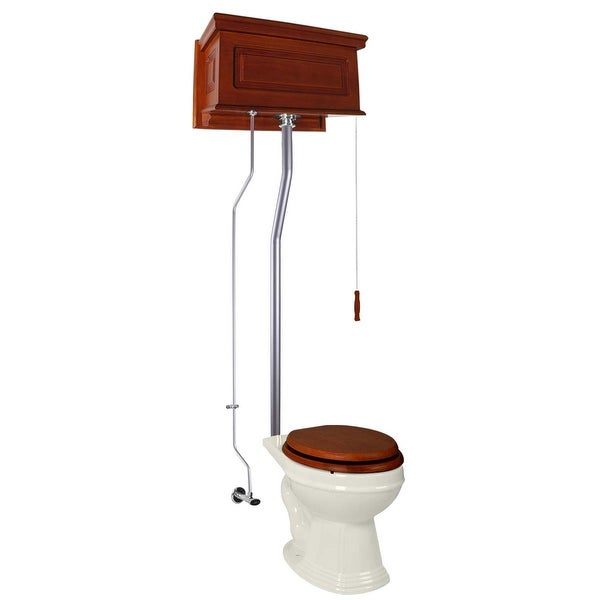 Renovator's Supply High Tank Toilets Mahogany Raised Tank Round High Tank Toilet