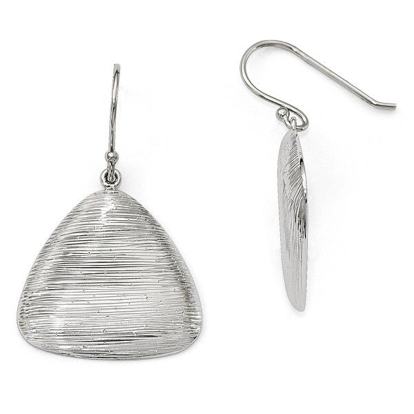 Sterling Silver Radiant Essence Shepherd Hook Earrings